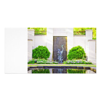 Stone Bird in the Bushes Photo Greeting Card
