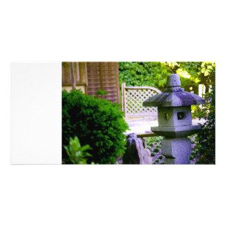 Stone Birdhouse Custom Photo Card