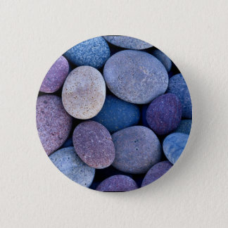 Stone blue rocks 6 cm round badge