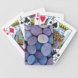 Stone blue rocks bicycle playing cards