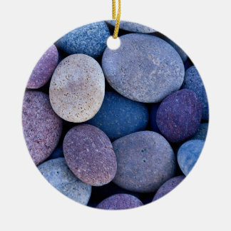 Stone blue rocks christmas ornament