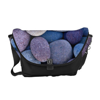 Stone blue rocks messenger bag