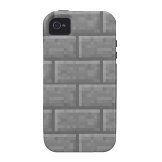 Stone Brick Voxel Case-Mate iPhone 4 Covers