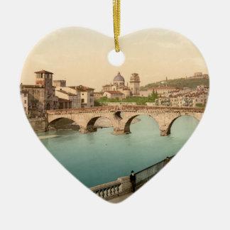 Stone Bridge and San Giorgio, Verona, Italy Christmas Ornament