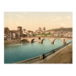 Stone Bridge and San Giorgio, Verona, Italy Postcards