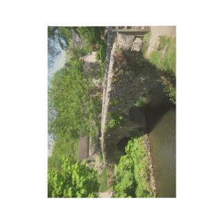 Stone Bridge Poster: Derbyshire (48.3cm x 36.8cm) Wood Poster