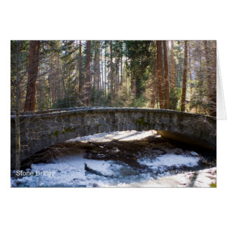 Stone Bridge Yosemite Creek April Snow Products Cards