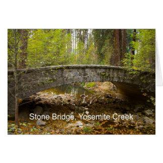 Stone Bridge Yosemite Creek November Products Greeting Card