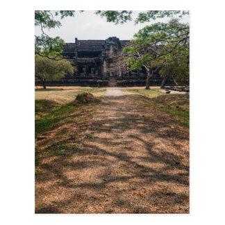 Stone Building & Path at Angkor Wat, Siem Reap Postcard