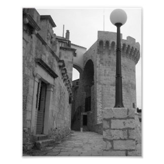 Stone Buildings in Korcula Art Photo