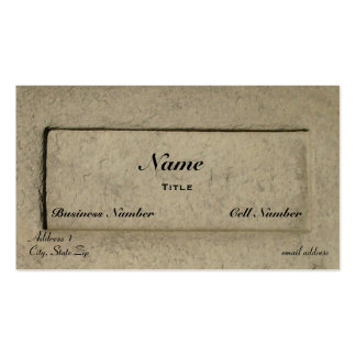 Stone Pack Of Standard Business Cards