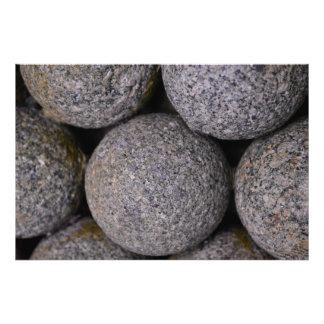 Stone Cannonballs 36'' x 24'' Photo Print
