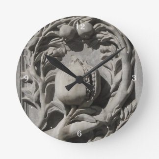Stone Carved Art Granada Round (Medium) Wall Clock