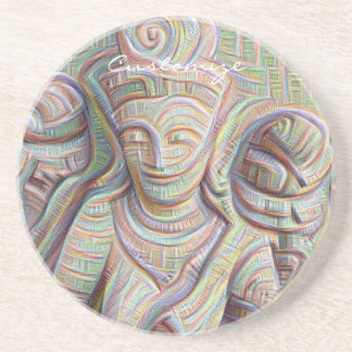 Stone carved dakinis Thunder_Cove Beverage Coaster