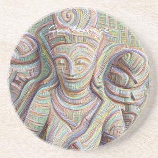 Stone carved dakinis Thunder_Cove Coaster