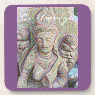 Stone carved dakinis Thunder_Cove Coasters