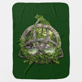 Stone Celtic Trinity Knot Baby Blanket