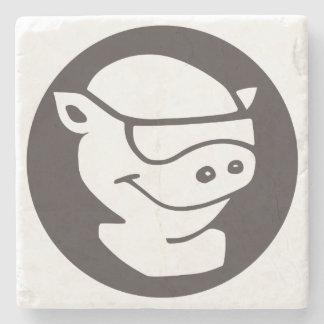 Stone Coaster with Pitmaster logo.