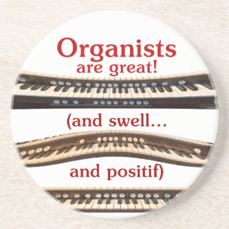 Stone coasters for organists