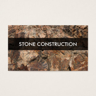 Stone Construction Materials Business Card