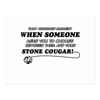 Stone Cougar designs for Cat lovers Postcard