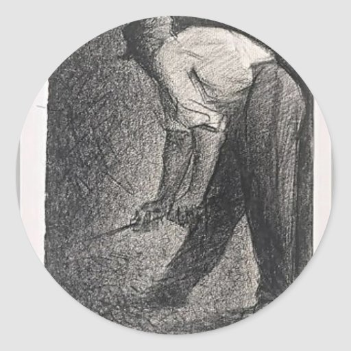Stone crusher by Georges Seurat Stickers