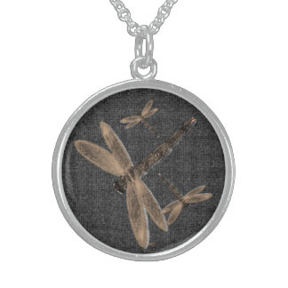 Stone Dragonflies black Necklace