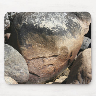 Stone Face Mouse Pad