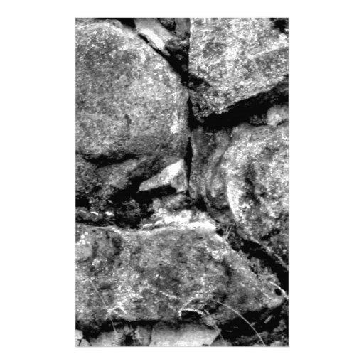 Stone faces custom stationery