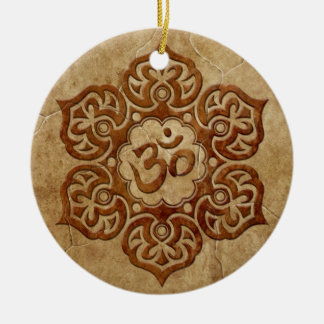 Stone Floral Aum Design Christmas Ornament