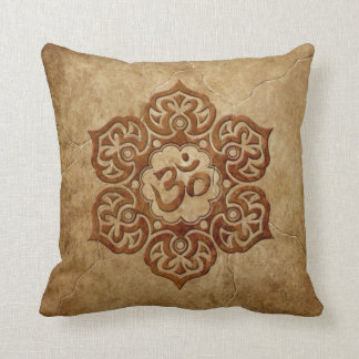 Stone Floral Aum Design Cushion