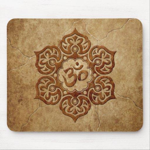 Stone Floral Aum Design Mousepad