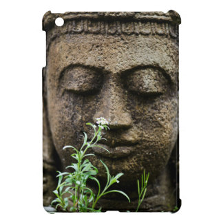 Stone garden statue with flower cover for the iPad mini