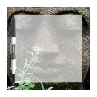 Stone garden statue with flower Dry-Erase boards