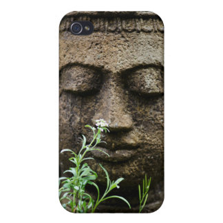 Stone garden statue with flower iPhone 4/4S covers