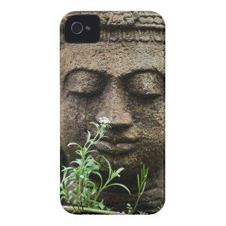 Stone garden statue with flower iPhone 4 case