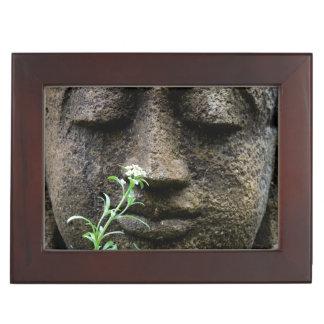 Stone garden statue with flower keepsake box