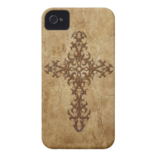 Stone Gothic Cross iPhone 4 Case-Mate Cases
