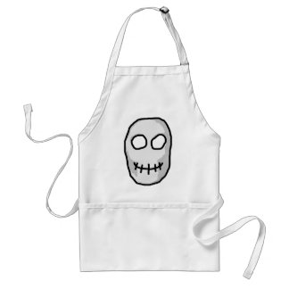 Stone Grey and Black Skull Primitive Style Aprons