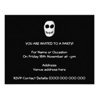 Stone Grey and Black Skull Primitive Style Announcement