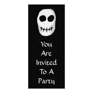 Stone Grey and Black Skull Primitive Style Invites