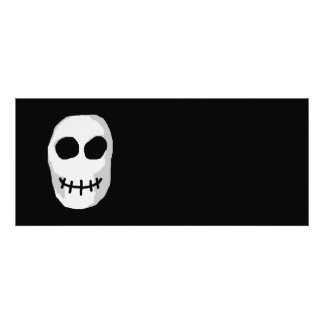 Stone Grey and Black Skull Primitive Style Personalized Invitation