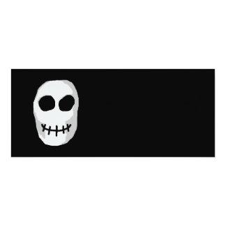 Stone Grey and Black Skull. Primitive Style. Personalized Invitation