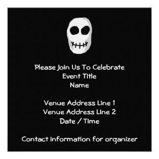 Stone Grey and Black Skull Primitive Style Custom Invites