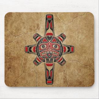 Stone Haida Sun Mask Mouse Pad