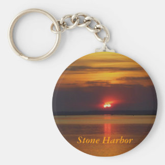 Stone Harbor sunset keychain