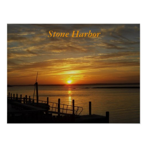 Stone Harbour Sunset Print