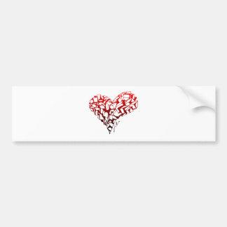 Stone Heart Bumper Sticker