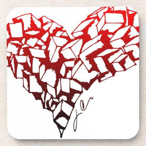 Stone Heart Drink Coaster