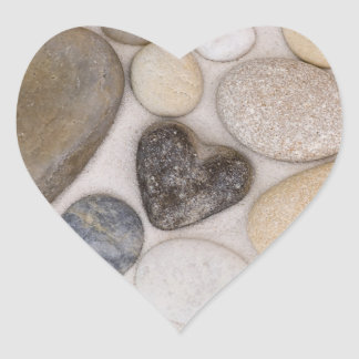 Stone heart heart sticker